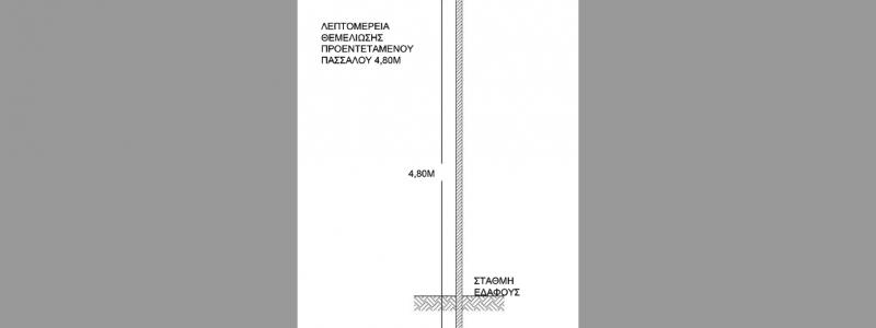 ΘΕΜΕΛΙΩΣΗ ΠΡΟΕΝΤΕΤΑΜΕΝΟΥ ΠΑΣΣΑΛΟΥ 4,80Μ